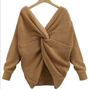 Criss Cross Batwig Sweater